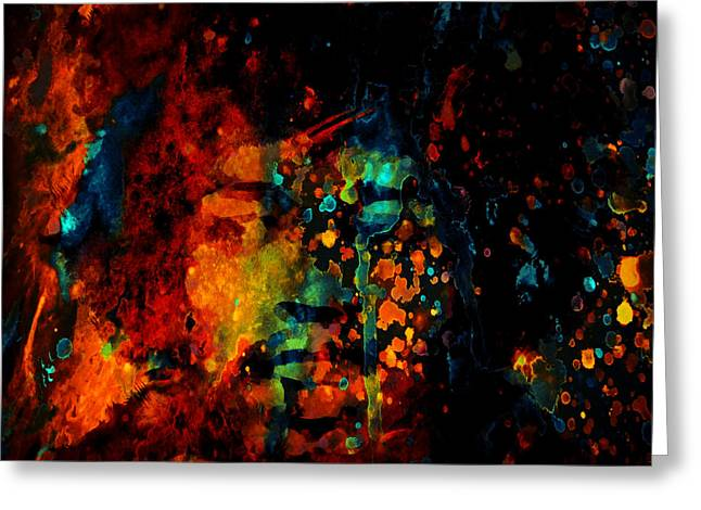 Johnny Allen Hendrix Greeting Cards - Jimi Hendrix Colorful World Greeting Card by Brian Reaves