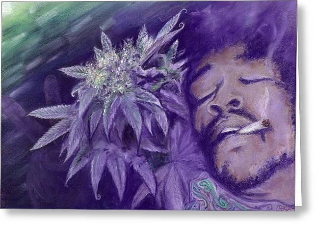 Weed Pastels Greeting Cards - Jimi Hendrix Greeting Card by Raymond L Warfield jr