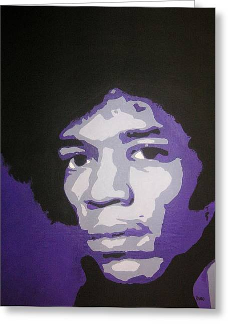 Gypsy Band Greeting Cards - Jimi Greeting Card by Rock Rivard