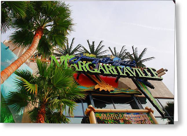Jimmy Buffets Margaritaville In Las Vegas Greeting Card by Susanne Van Hulst