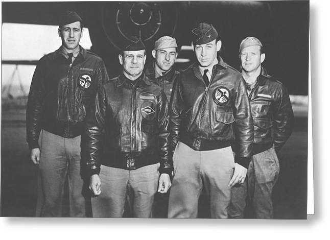 Known Greeting Cards - Jimmy Doolittle and His Crew Greeting Card by War Is Hell Store