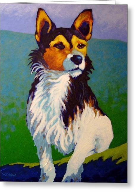 Dog Prints Greeting Cards - Jimmy Greeting Card by John  Nolan
