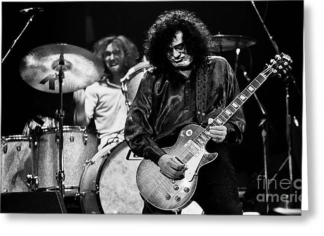 Jimmy Page-0061 Greeting Card by Timothy Bischoff