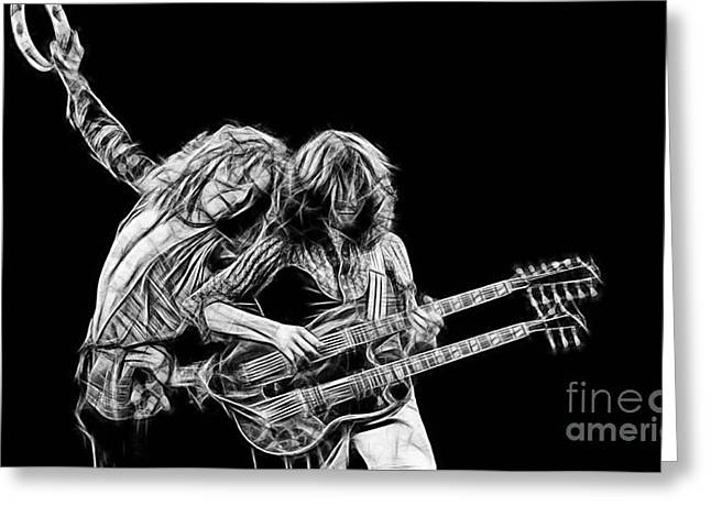 Page Greeting Cards - Jimmy Page and Robert Plant Collection Greeting Card by Marvin Blaine