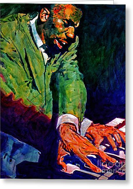 Famous People Portraits Greeting Cards - Jimmy Smith Root Down Greeting Card by David Lloyd Glover