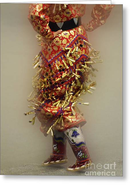 Fancy-dancer Greeting Cards - Pow Wow Jingle Dancer 6 Greeting Card by Bob Christopher