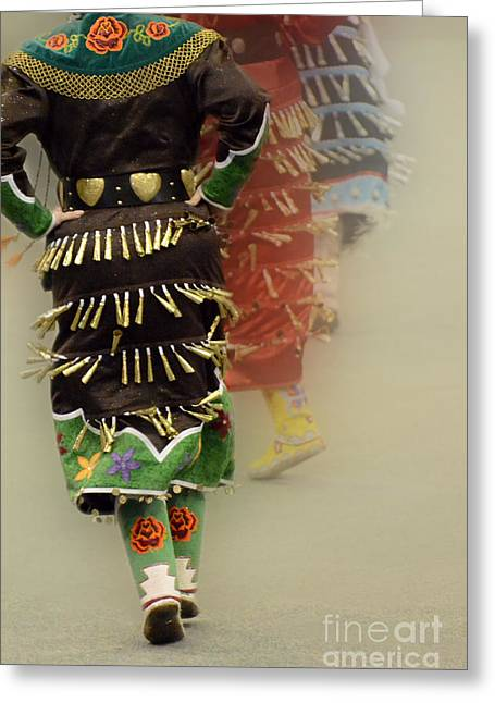 Pow Wow Jingle Dancers 2 Greeting Card by Bob Christopher