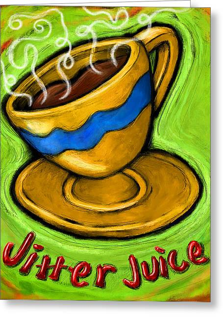 Beverage Digital Art Greeting Cards - Jitter Juice Greeting Card by David Kyte