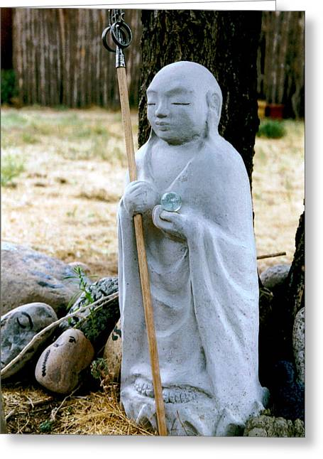 Samadhi Greeting Cards - Jizo Bodhisattva - Childrens Protector Greeting Card by Dagmar Ceki