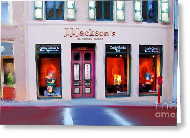 Transformative Art Greeting Cards - J.J. Jacksons Nevada City Greeting Card by Lisa Redfern