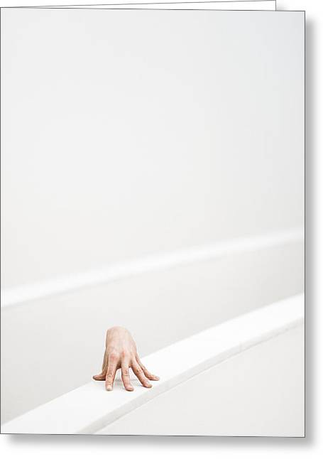 Hand Photographs Greeting Cards - J/l Greeting Card by Matthias Leberle