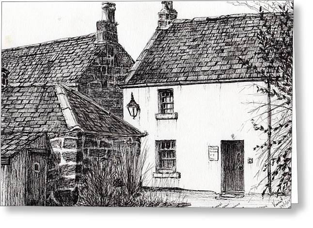 Jm Barrie's Birthplace Greeting Card by Vincent Alexander Booth