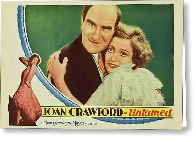 Joan Crawford In Untamed 1929 Greeting Card by Mountain Dreams