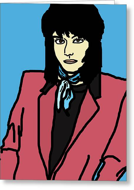 80s Greeting Cards - Joan Jett Greeting Card by Jera Sky