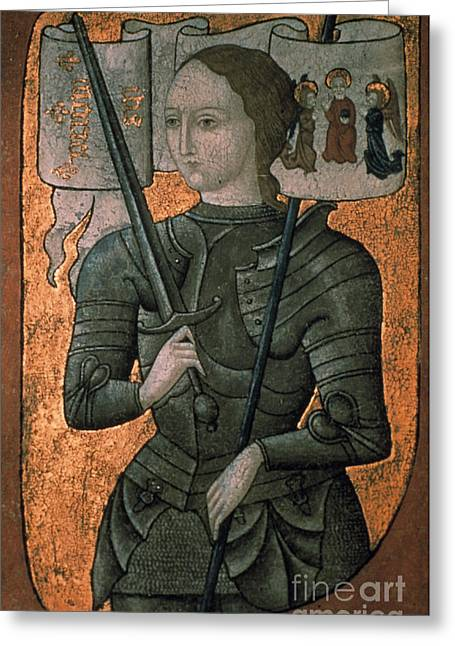 15th Greeting Cards - JOAN OF ARC (c1412-1431) Greeting Card by Granger