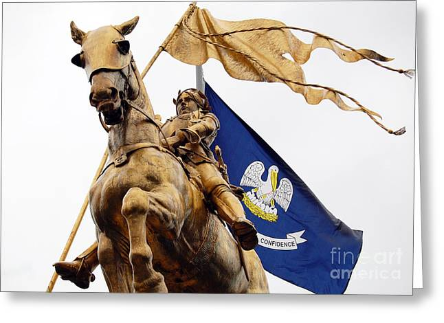 Travelpixpro Greeting Cards - Joan of Arc Statue French Quarter New Orleans Greeting Card by Shawn O