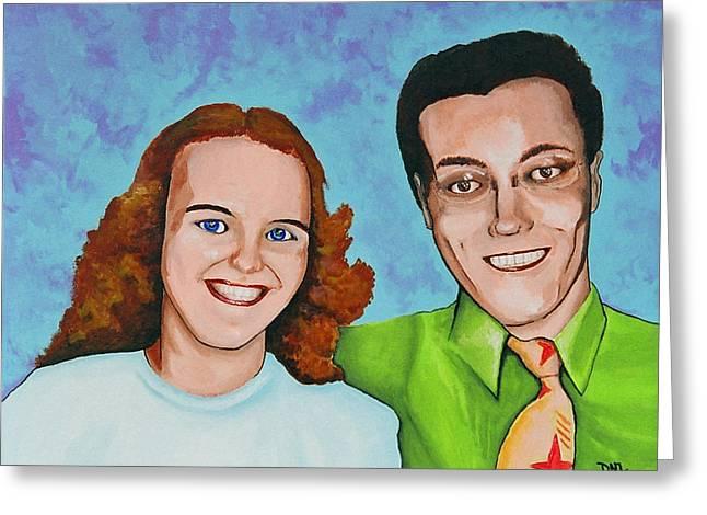 David Junod Greeting Cards - Joanne and Daniel Junod Greeting Card by David Junod