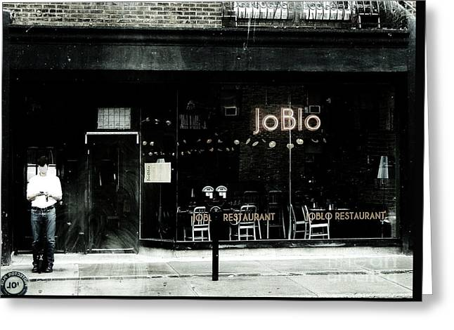Verdun Restaurants Greeting Cards - JoBlo Greeting Card by Reb Frost