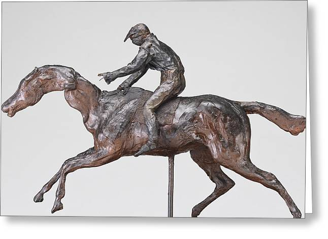 Sculptures Greeting Cards - Jockey With Cap Greeting Card by Edgar Degas