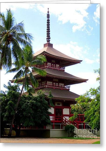 Jodo Mission Lahaina 1 Greeting Card by Randall Weidner