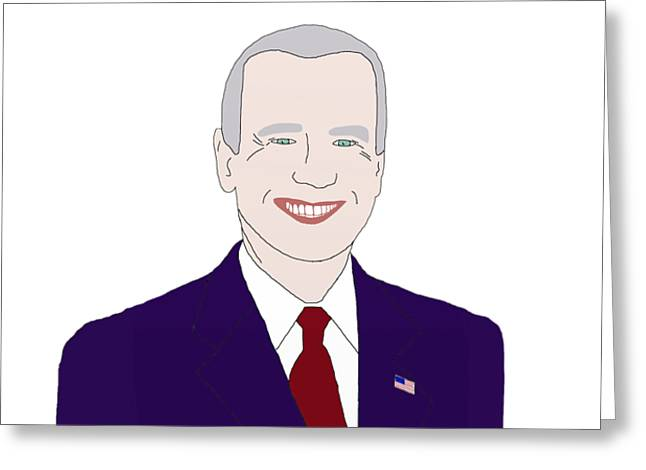 Vice President Biden Greeting Cards - Joe Biden Greeting Card by Priscilla Wolfe