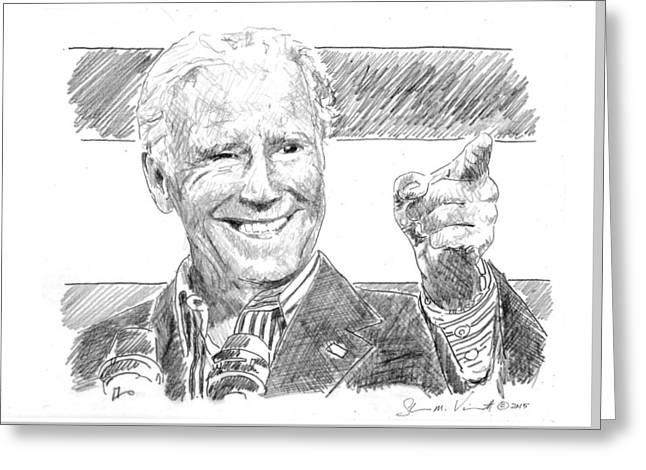 Joe Biden Greeting Card by Shawn Vincelette