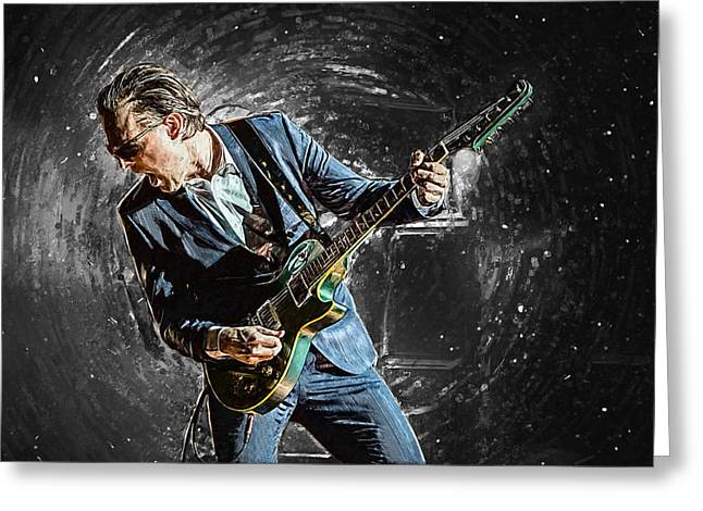Joe Bonamassa Greeting Card by Taylan Soyturk