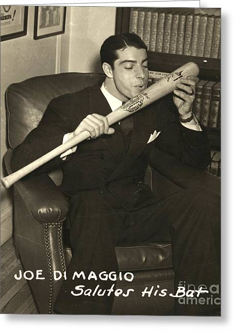 Bookcase Greeting Cards - Joe Dimaggio (1914-1999) Greeting Card by Granger