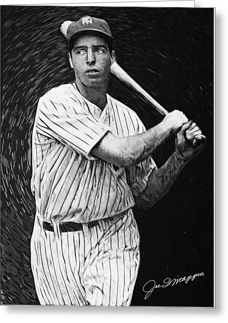 Clippers Digital Art Greeting Cards - Joe DiMaggio Greeting Card by Taylan Soyturk