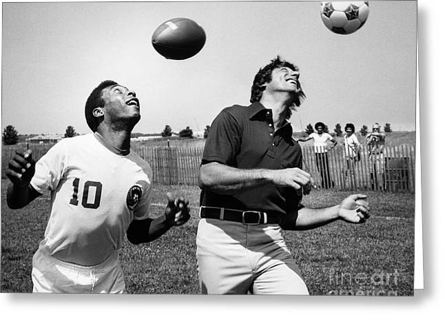 Football Photographs Greeting Cards - Joe Namath (1943- ) Greeting Card by Granger