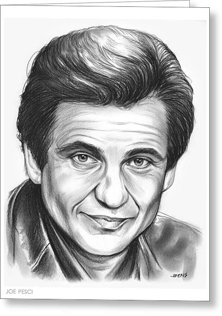 Joe Pesci Greeting Card by Greg Joens