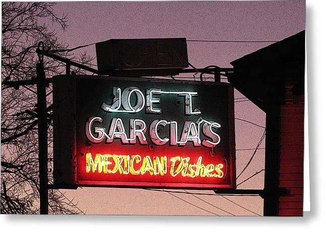 Joe T Garcia's Greeting Card by Shawn Hughes