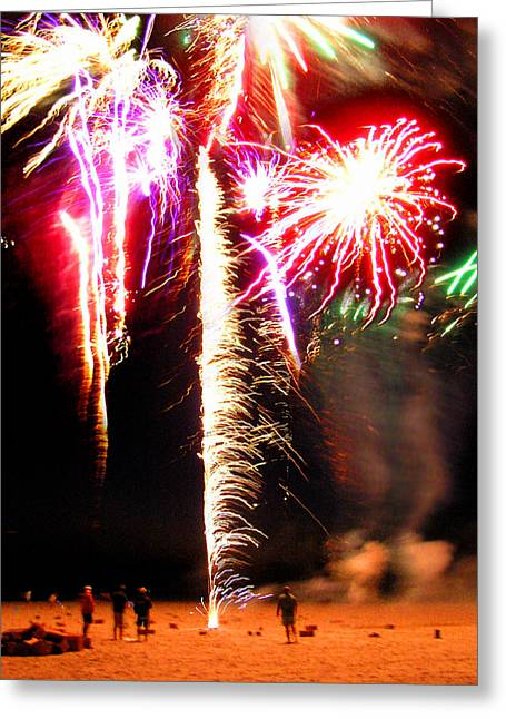 Joe's Fireworks Party 1 Greeting Card by Charles Harden