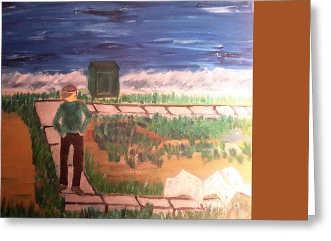 Galveston Paintings Greeting Cards - Joey  Greeting Card by Cindy  Riley
