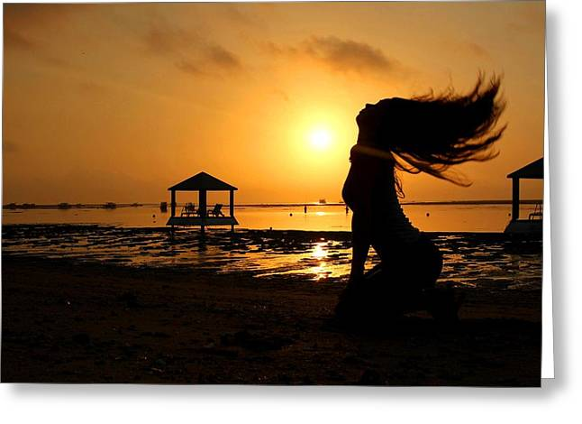 My Ocean Greeting Cards - Joga Sunrise Session Greeting Card by Sona Bicanova