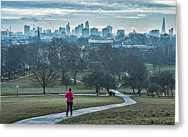 Jogger Greeting Card by Adam Butler