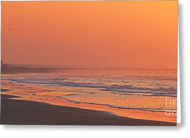 Jogging Photographs Greeting Cards - Jogger at Sunrise  3286 Greeting Card by Jack Schultz