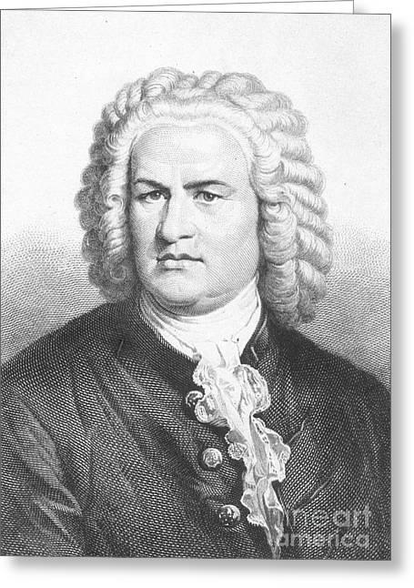 Organist Greeting Cards - Johann S. Bach (1685-1750) Greeting Card by Granger