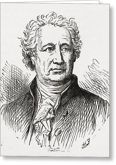 Wolfgang Greeting Cards - Johann Wolfgang Von Goethe, 1749 To Greeting Card by Ken Welsh