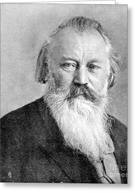 Brahms Greeting Cards - Johannes Brahms, German Composer Greeting Card by Science Source