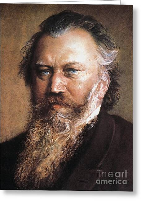 Pianist Photographs Greeting Cards - Johannes Brahms Greeting Card by Granger