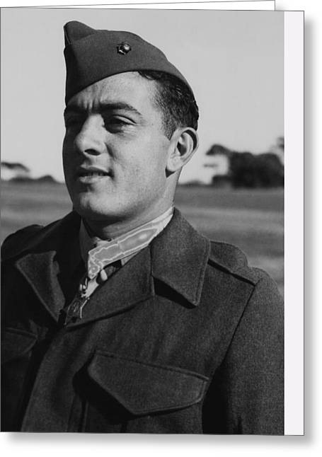 Semper Fidelis Greeting Cards - John Basilone Greeting Card by War Is Hell Store