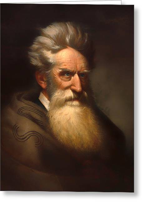 Abolitionist Paintings Greeting Cards - John Brown Greeting Card by Ole Peter Hansen Balling