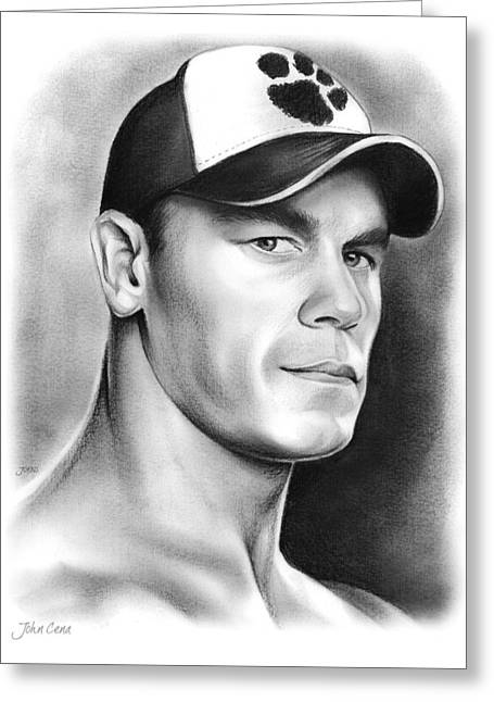 John Cena Greeting Card by Greg Joens