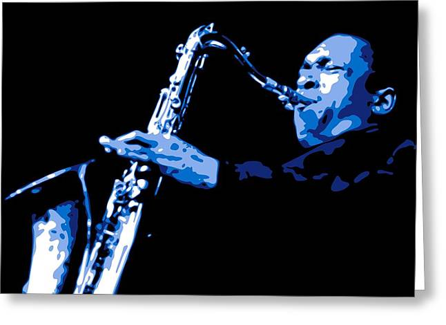 African-americans Digital Greeting Cards - John Coltrane Greeting Card by DB Artist