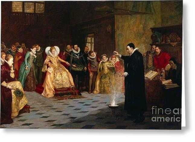John Dee Performing Greeting Card by Henry Gillard