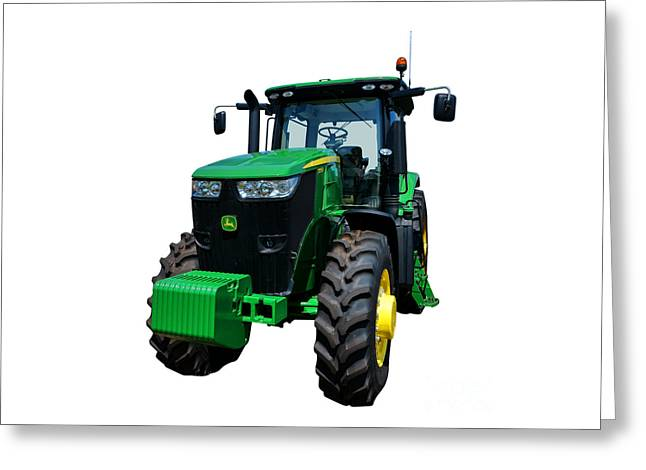 Equipment Photographs Greeting Cards - John Deere 7215R Greeting Card by Olivier Le Queinec
