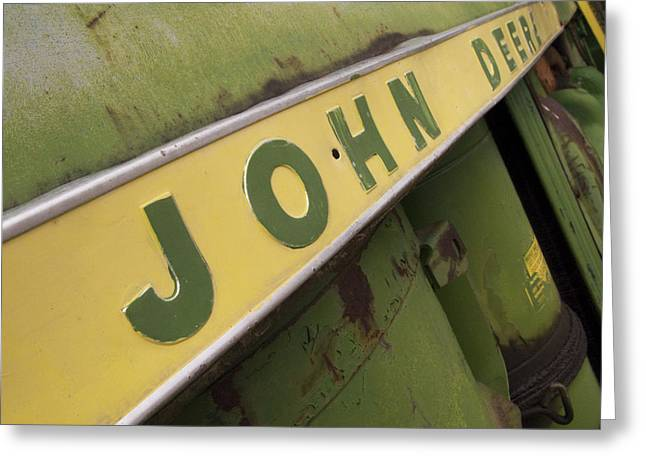 Equipment Greeting Cards - John Deere Greeting Card by Jeff Ball