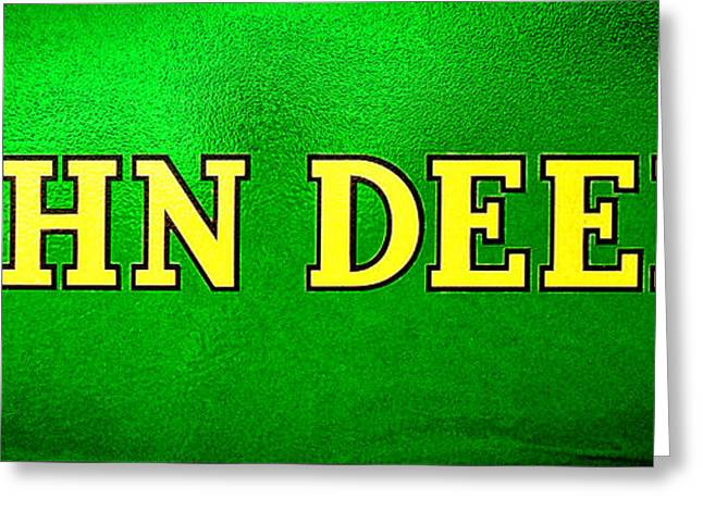 John Deere Nameplate Greeting Card by Olivier Le Queinec