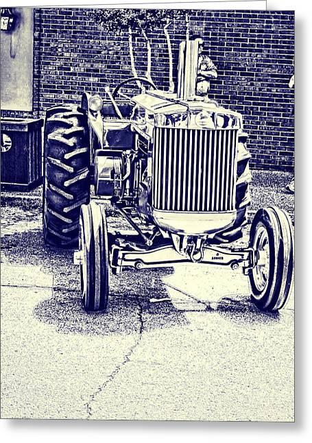 Fine Greeting Cards - John Deere Tractor Art Greeting Card by Lesa Fine